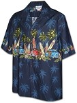 212-3313 Navy Pacific Legend Boys Border Shirt